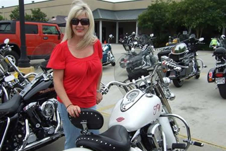 T.W. Robinson, a reporter with LA Rider, a local Louisiana motorcycle TV show